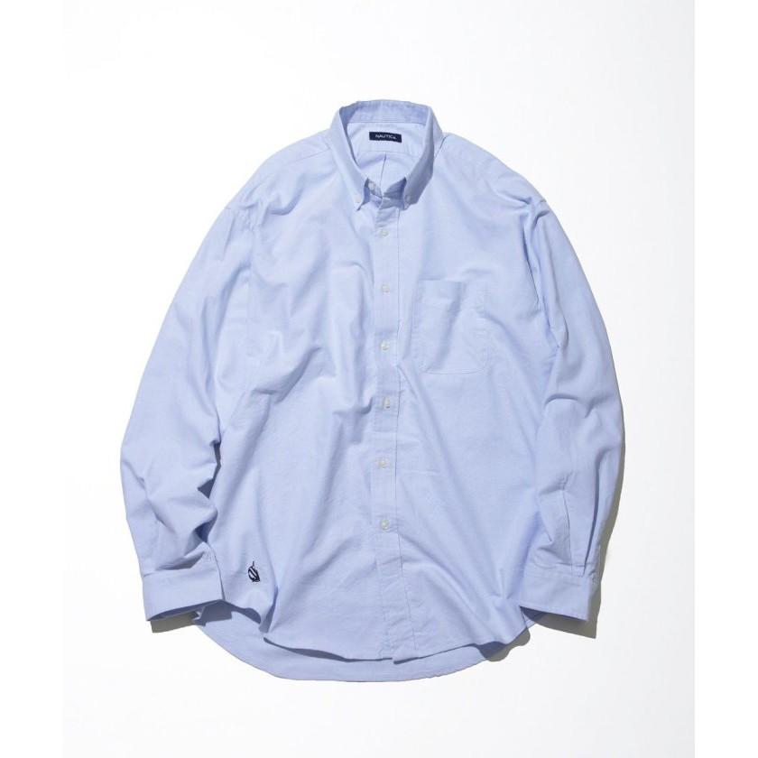 NAUTICA 素色襯衫 藍色