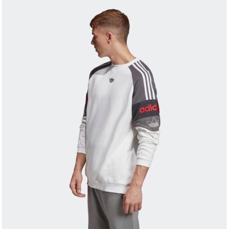 【开拓者】Adidas 愛迪達 男款 白色 衛衣 長袖 大學T 款號 : FK1967