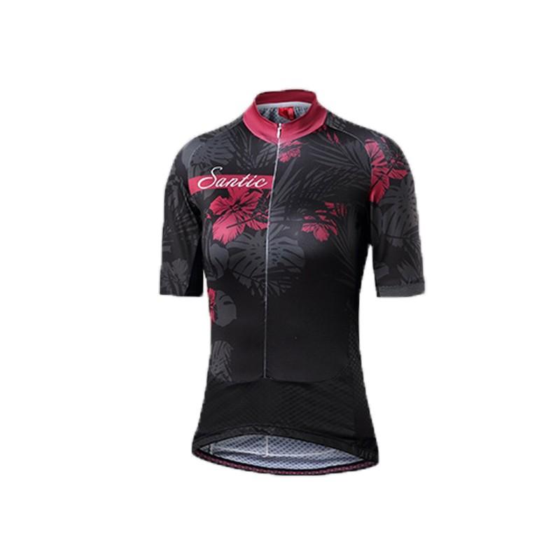 SANTIC L8C02131女款短袖車衣 短袖袖騎行服-時尚設計 風格清新(夜來)
