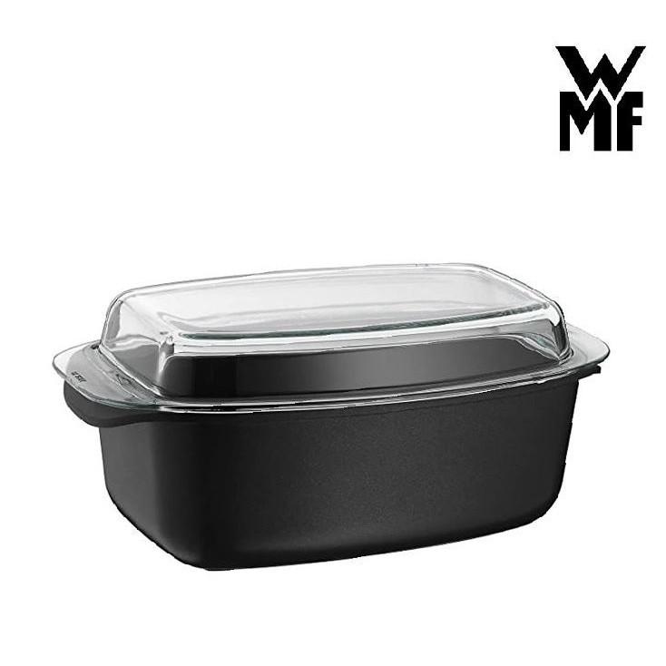 德國 WMF玻璃附蓋大容量烤/炒/燉鍋 多功能烤盤破璃鍋,蒸魚/烘培 /玻璃蓋可當擺盤,不沾鍋材質,不含鐵氟龍塗層更安心