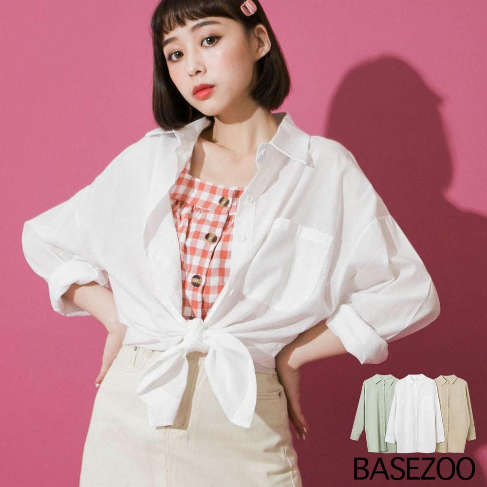 貝思奇-基礎BUY素面棉麻襯衫(3色)【S150616】