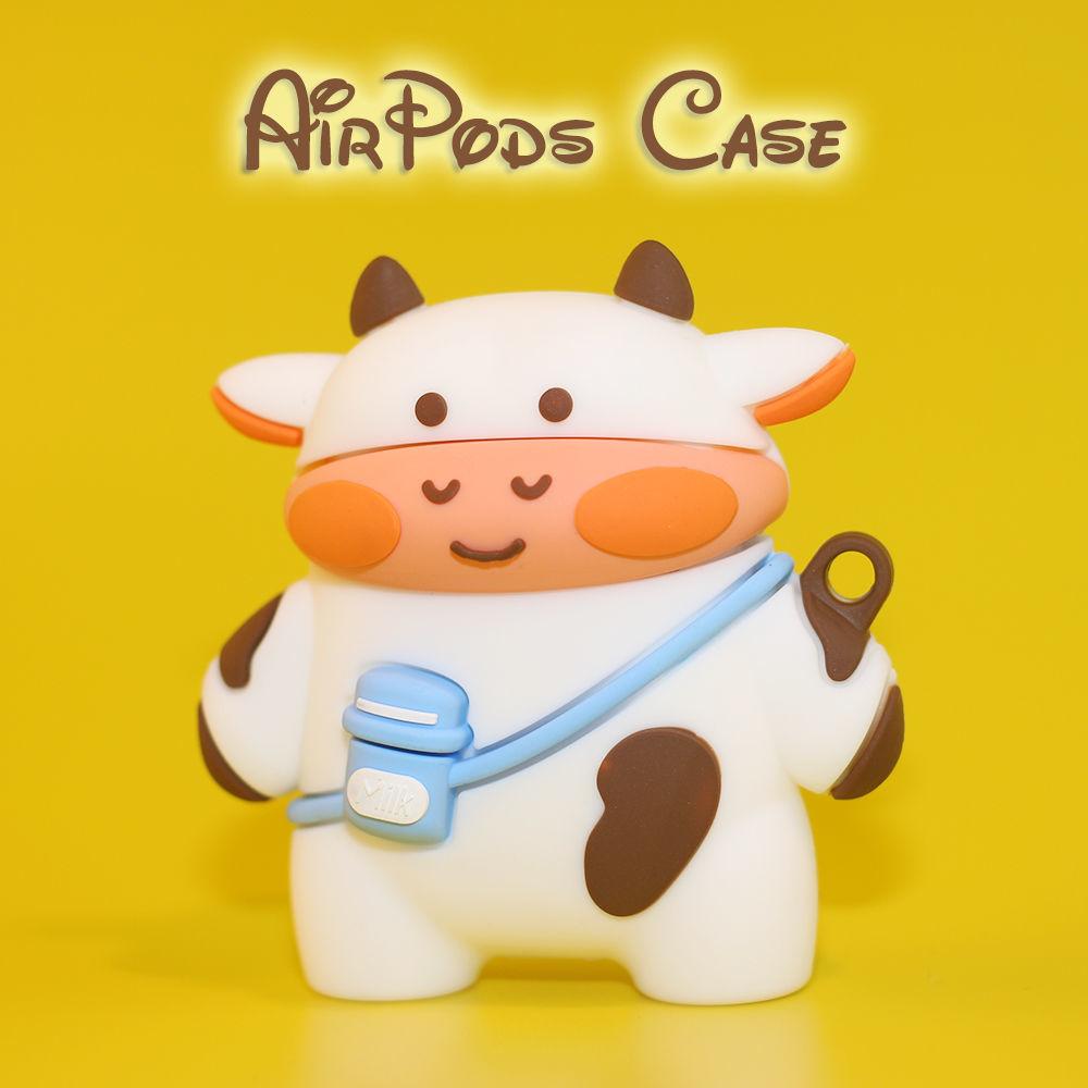 ❤️❤️【熱賣】i12奶牛airpods耳機套pro華強北2三代無線藍牙保護套蘋果防摔軟殼