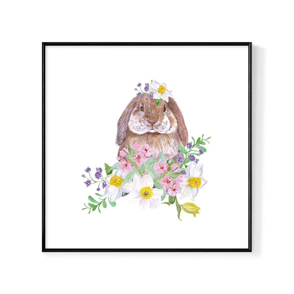 溫柔兔兔 (方版) - 掛畫/主臥室/房間掛畫/客廳佈置/兒童房佈置