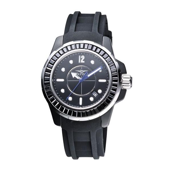 【KATINO】黑面T字鑽陶瓷石英錶K018BZB