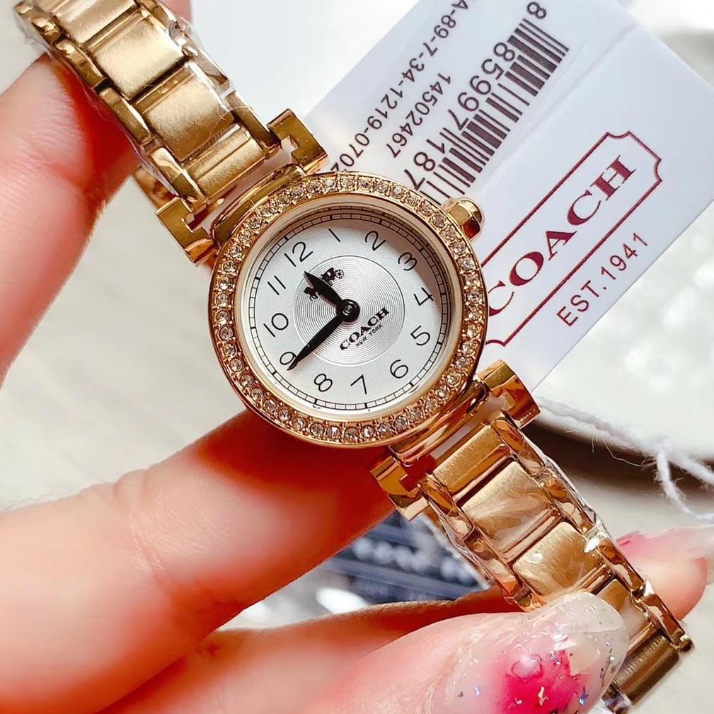 新款實拍 COACH 手錶女 蔻馳女錶 鑲鑽手錶 石英手錶  輕奢時尚 coach手錶