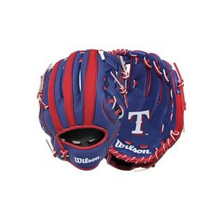 【棒球大王小舖】原價980元特價5.2折 Wilson 兒童棒球手套 WTA02RB16TEX 德州遊騎兵 10吋