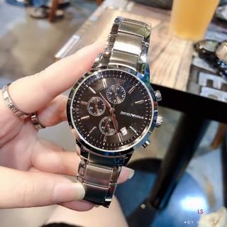 Armani-阿瑪尼 亞曼尼男士腕錶 石英手錶 進口石英 進口小牛皮錶帶/ 316精鋼錶帶 針扣/ 蝴蝶扣 AR11164 桃園市