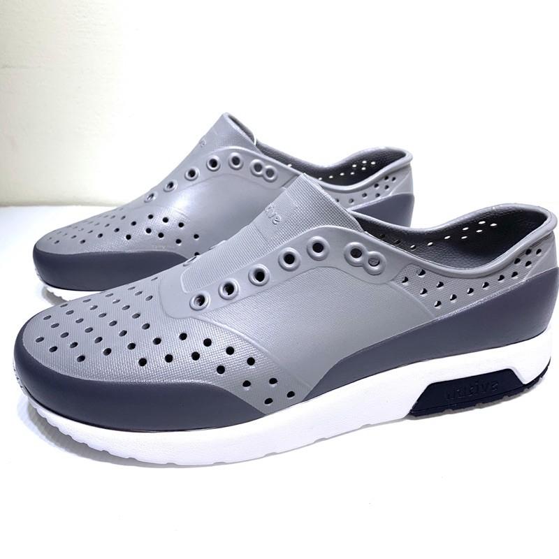 *永和正品簽約* Native LENNOX BLOCK 雷諾系列 懶人鞋 洞洞鞋 晴雨兩穿 灰色