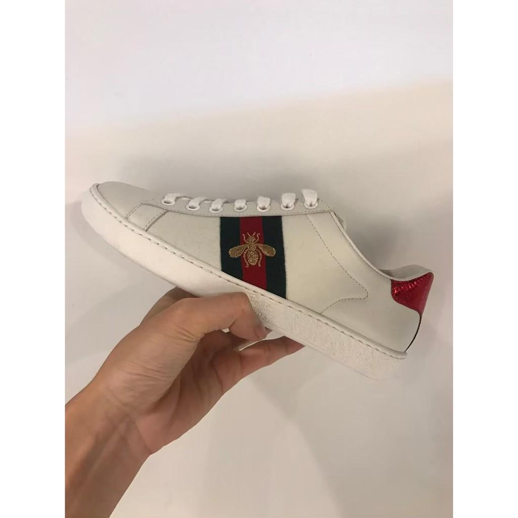 【㊣正品代購㊣】GUCCI 金蜜蜂 白色鞋子