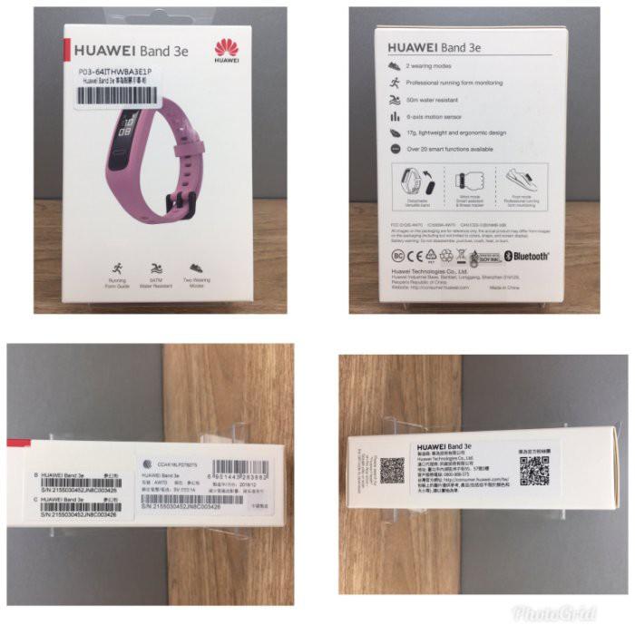 配件~華為HUAWEI 運動手環 Band 3e 智能手環 50米防水智慧手錶睡眠監測-粉色 限8月
