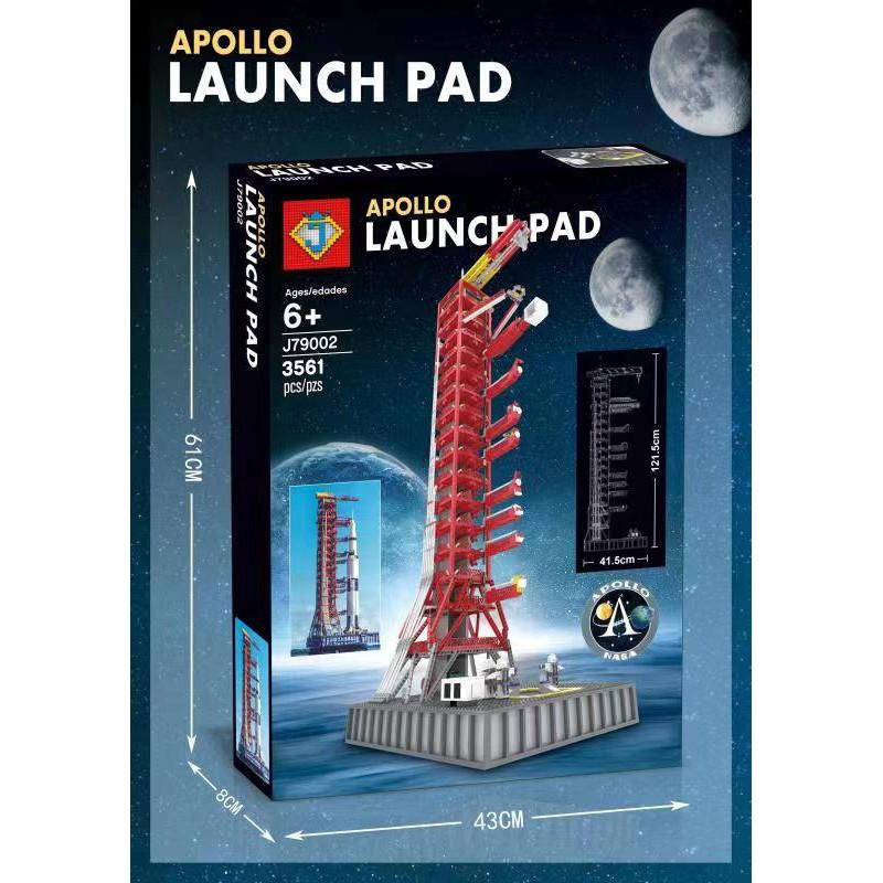 [7-8]兼容樂高21309阿波羅土星5號火箭發射架塔MOC拼裝積木玩具M10003