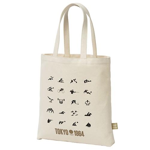 1964年東京奧運紀念版 競技圖案帆布袋 日本製 日本東京奧運 東奧 紀念品官方商品 現貨商品 售完為止