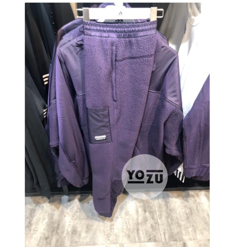⭐️YOZU ⭐️adidas 愛迪達 男生 長褲 羊羔毛 紫色 ED7189