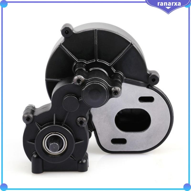 傳動箱配有金屬發動機齒輪,用於1/10 RC汽車卡車組裝SCX10 SCX10 II 90046 90047