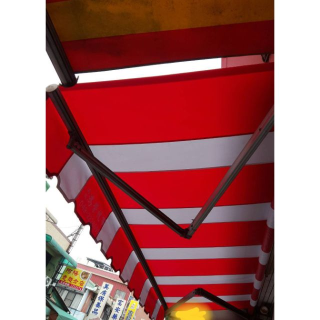 【富暐帆布】伸縮遮雨棚 天龍架 |可印刷圖案|