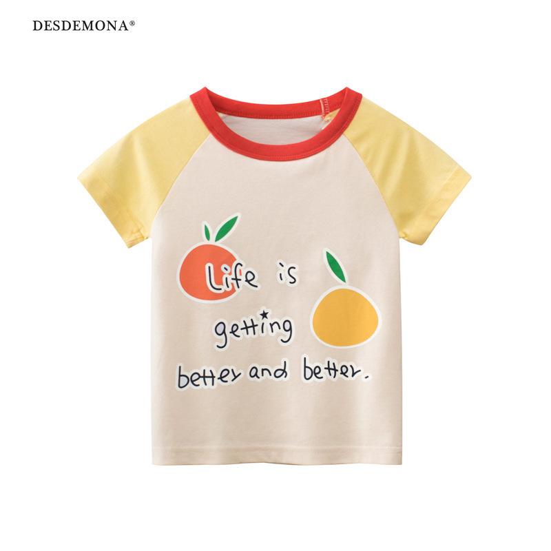 韓版童裝短袖t恤大廠出品 寶寶衣服女童 2021夏季純棉短袖上衣 卡通T恤ins