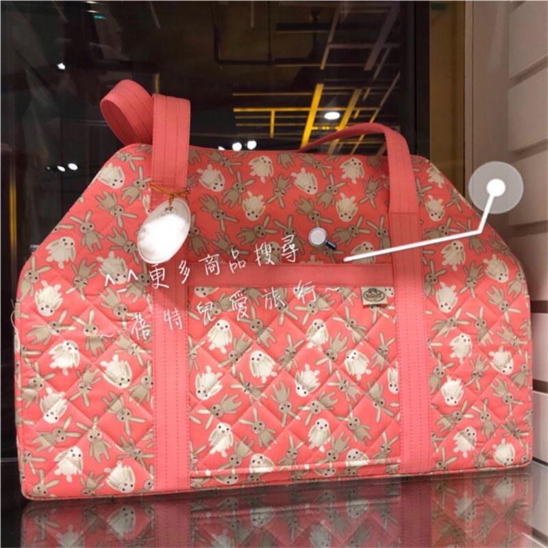 🇹🇭泰國經典🇹🇭泰國曼谷包NaRaYa 娜萊雅 🐰🐰粉紅兔兔 前口袋梯形寬背帶 旅行袋 旅行包 曼谷包