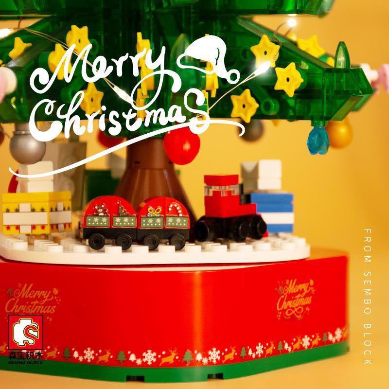 ✷兼容樂高森寶圣誕樹花環禮物男女孩子兒童拼裝益智積木玩具601097