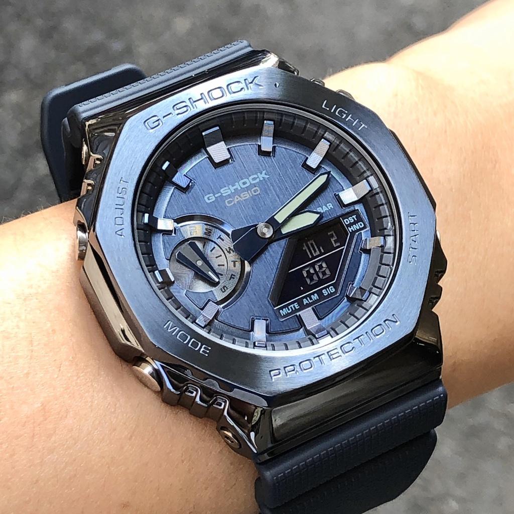 現貨 CASIO 卡西歐 手錶 G-SHOCK GM-2100N-2A 44mm 藍色錶盤 藍色錶帶 男錶女錶