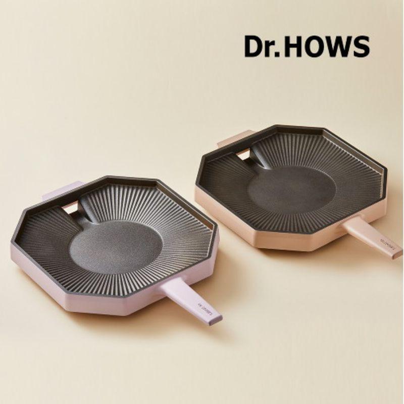 韓國 Dr.HOWS 28cm烤盤 單柄八角烤盤 露營 野餐 韓國烤肉