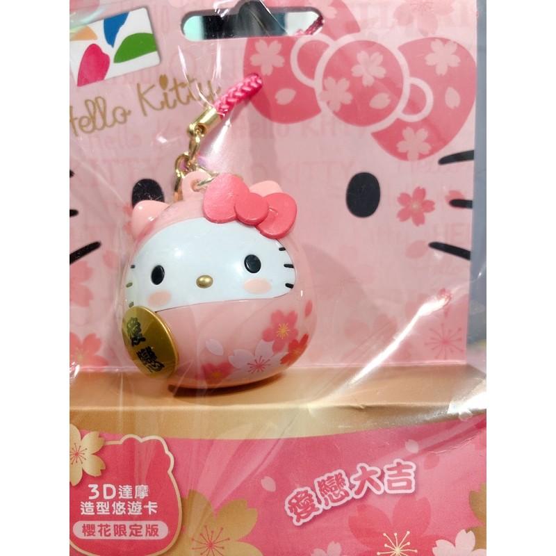 Hello Kitty達摩3D造型悠遊卡-櫻花限定版 愛戀大吉