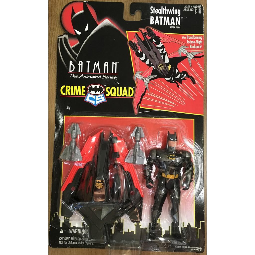 [蝙蝠俠009]Kenner 1995 動畫系列 Crime Squad Stealthwing Batman  吊卡