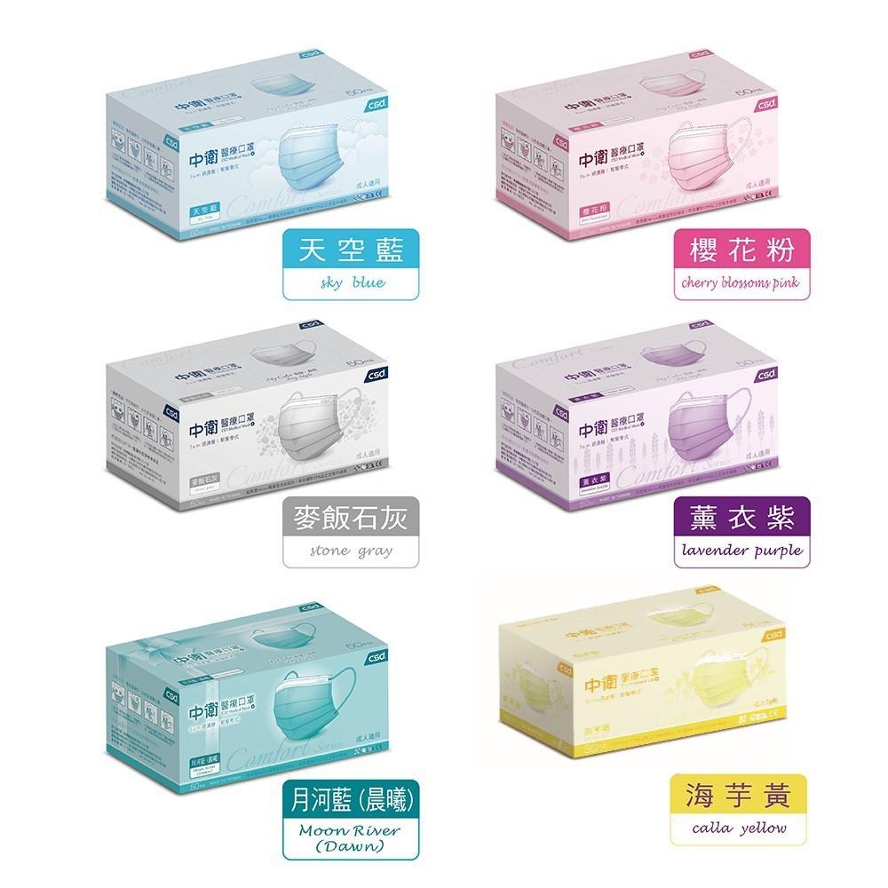 中衛 醫療口罩 (30片x1盒入) (50片x1盒入)