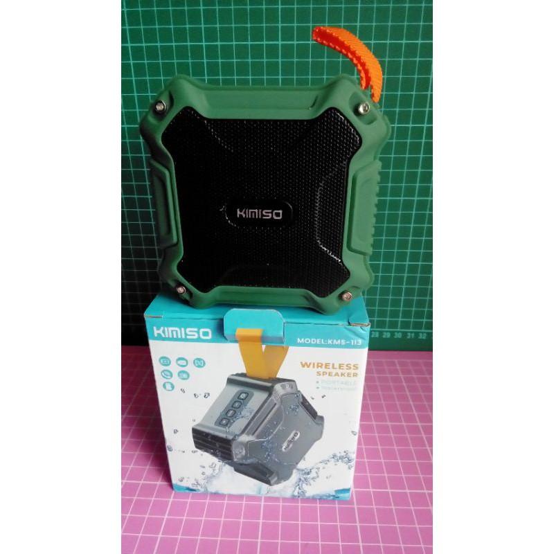 現貨 夾娃娃機商品 KIMISO防水藍牙喇叭 綠色 支援TF卡