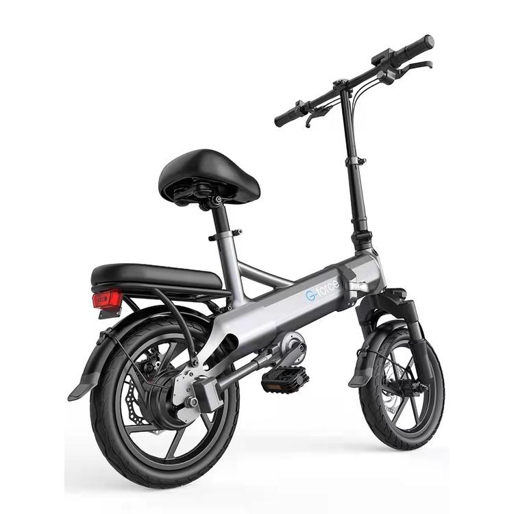 美國G-force G14電動摺疊助力 48V400W變頻高速電助力250公里摺疊無鏈條電動助力腳踏車