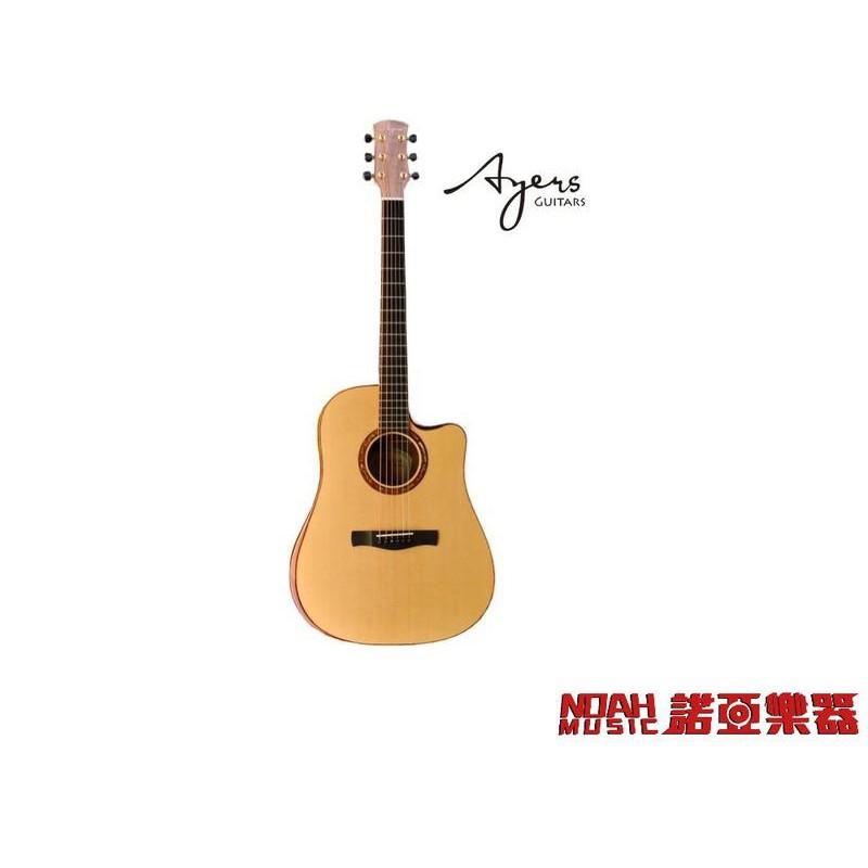 【諾亞樂器】全新 免運 AYERS PREMIUM SERIES 09 西堤卡雲杉木面板 全單板木吉他 送超值配件