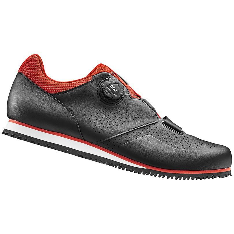 4月新到貨 GIANT 捷安特 PRIME 自行車專用硬底鞋(Boa旋鈕) 黑橘紅,黑白