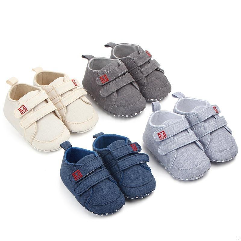 新款兒童休閒學步鞋 嬰兒鞋 男女童防滑軟底鞋 魔術貼百搭寶寶鞋【IU貝嬰屋】