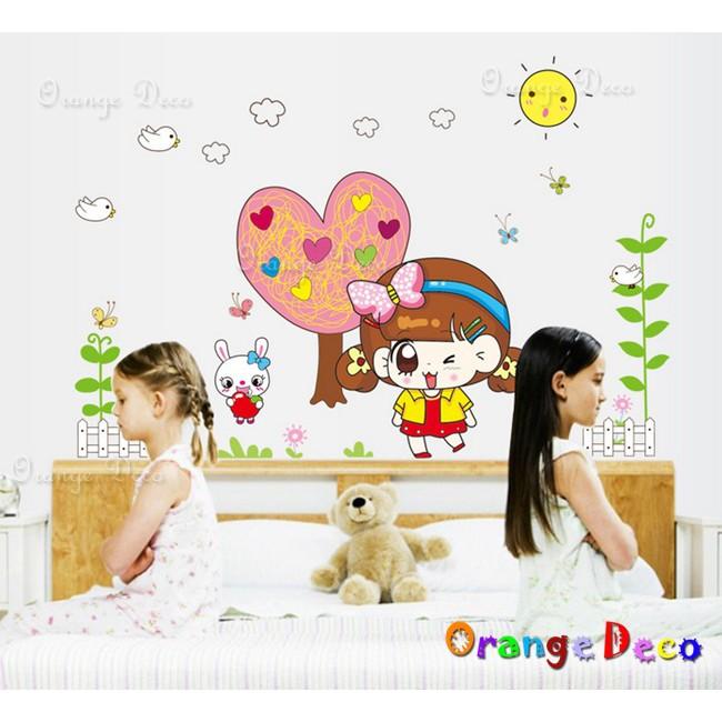 【橘果設計】可愛女孩 壁貼 牆貼 壁紙 DIY組合裝飾佈置