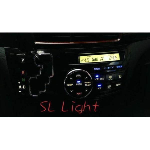SL光電精品~Previa ALPHARD 冷氣控制面板 開關 方向盤控制鍵改紅色 LED改色