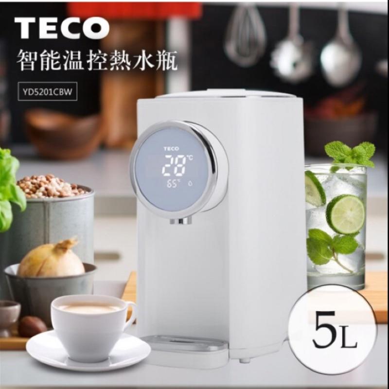 (代購免運)TECO 東元 5L大容量 智能溫控 美型熱水瓶 YD5201CBW