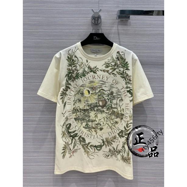 Dior 20新款 迪奧 女款 T恤 叢林 植物印花 圓領T