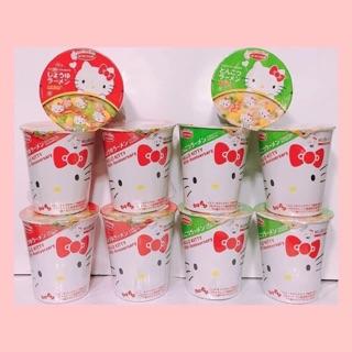 日本代購 日本Acecook聯名Hello Kitty45週年限定紀念醬油/ 豚骨杯麵 現貨