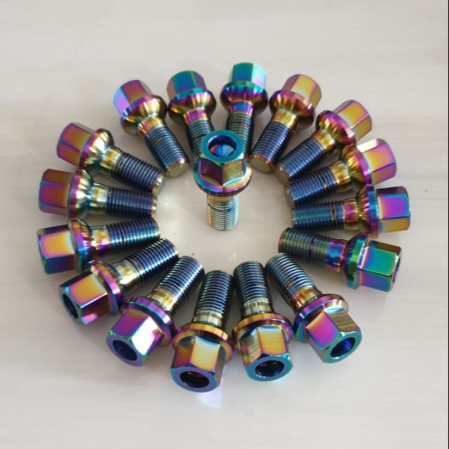 客製輕量化鍛造鈦合金鋁圈螺絲