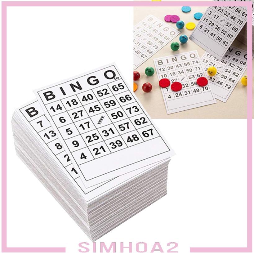[SIMHOA2] 60張BINGO遊戲卡單張60張60張面60張卡6 x 7英寸
