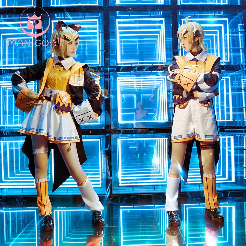 現貨雙子v家cos服Cassis Orange鮮橙黑加崙鏡音連鏡音鈴cosplay女 WY5Y