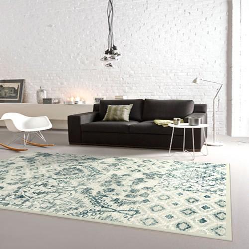范登伯格 古娜 小品藝術風地毯 拼花藍 133x190cm