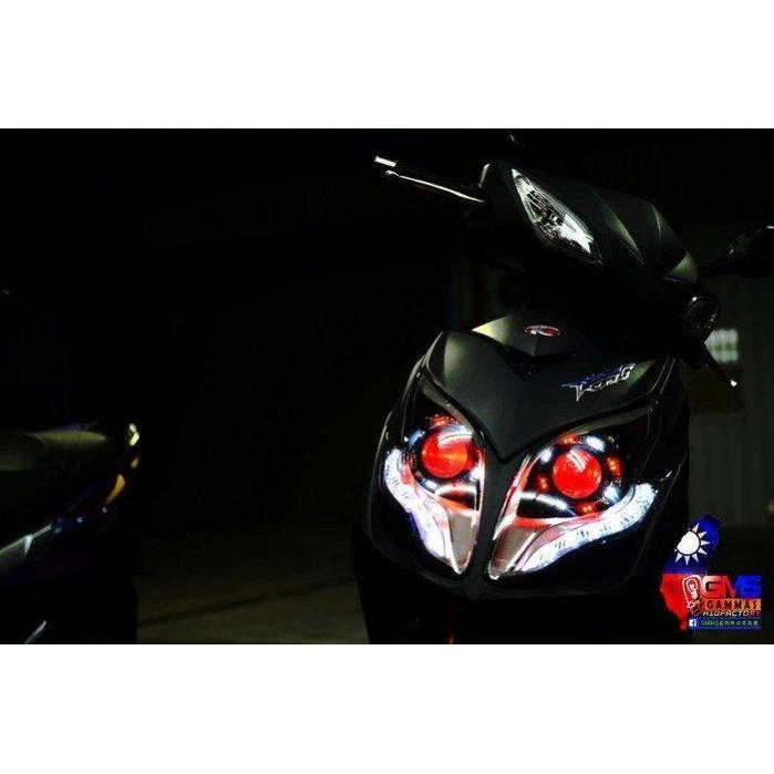RACING KING 雷霆王 180 改裝 魚眼大燈 HID 模組 總成 LED 光圈 電鍍飾圈