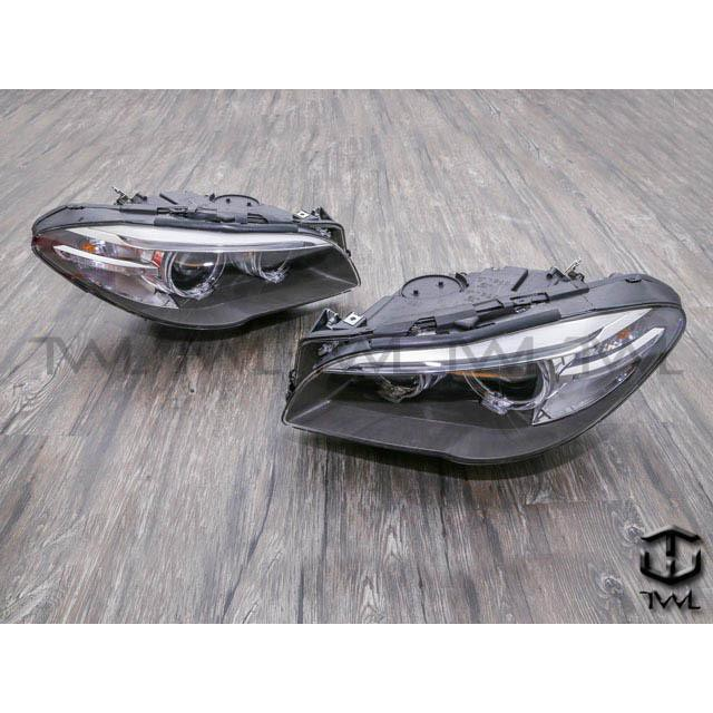 台灣車燈王 全新BMW寶馬F10 F11 09 10 11 12 13年前期改後期原廠型HID光圈魚眼大燈組頭空件台製