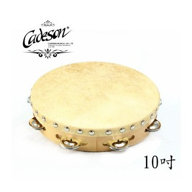 CADESON TO11-10 10吋單排繃皮鈴鼓【敦煌樂器】