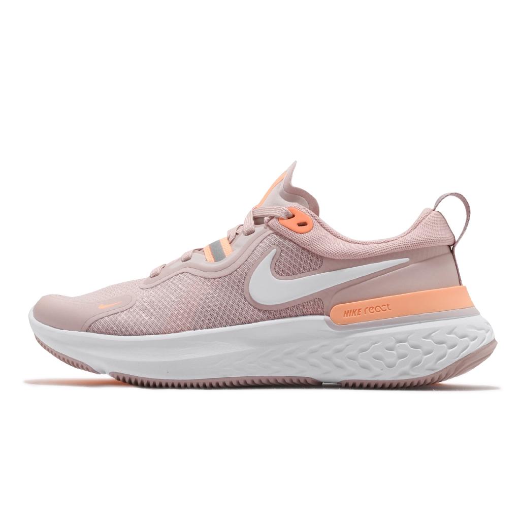 Nike 慢跑鞋 Wmns React Miler 霧粉 白 橘 反光 女鞋 運動鞋 【ACS】 CW1778-602