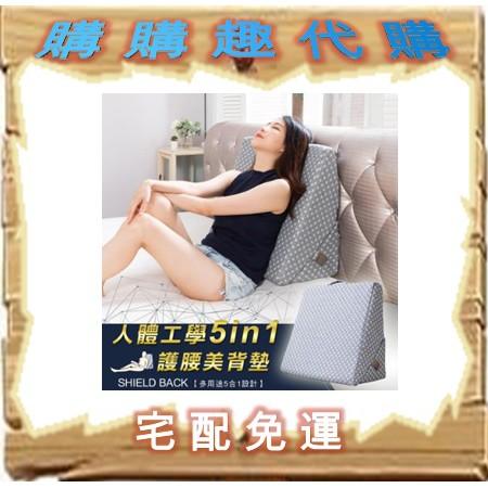 內外織物人體工學5in1護腰美背墊