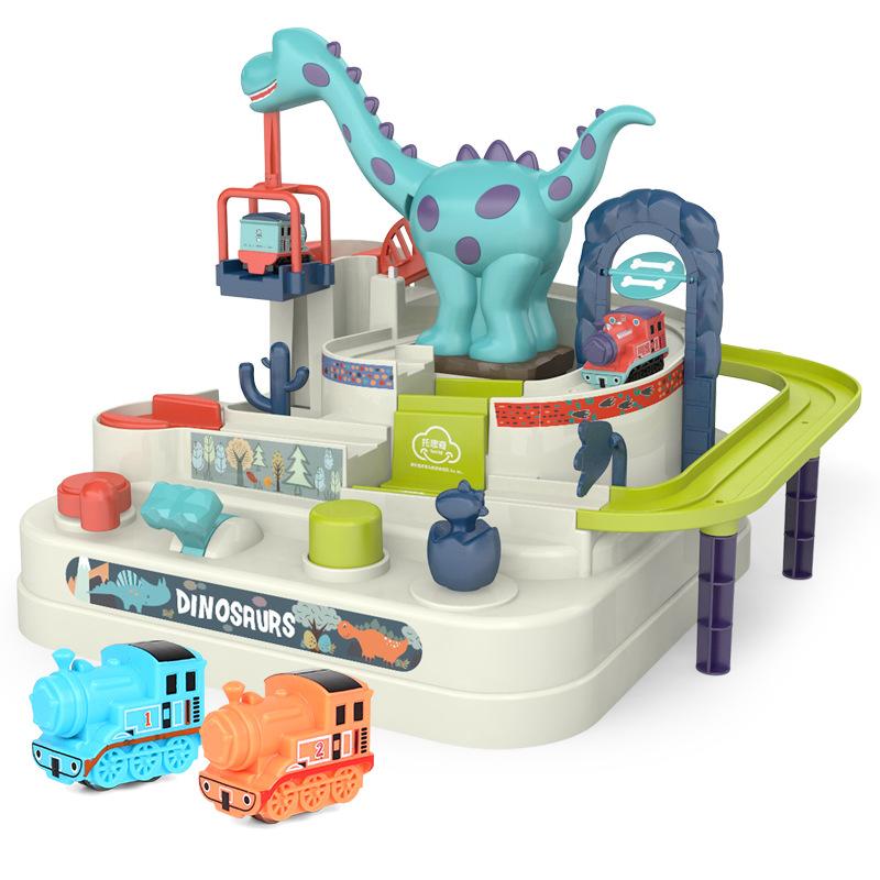 兒童 玩具 恐龍 汽車 闖關 大冒險 塑料 電動 燈光 帶有 音樂