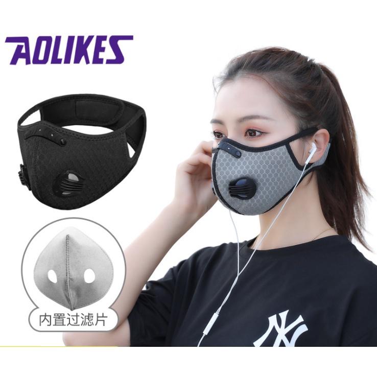 運動口罩 跑步口罩 活性炭面罩 防飛沫 活性碳防護口罩 騎行面罩 帶呼吸閥口罩