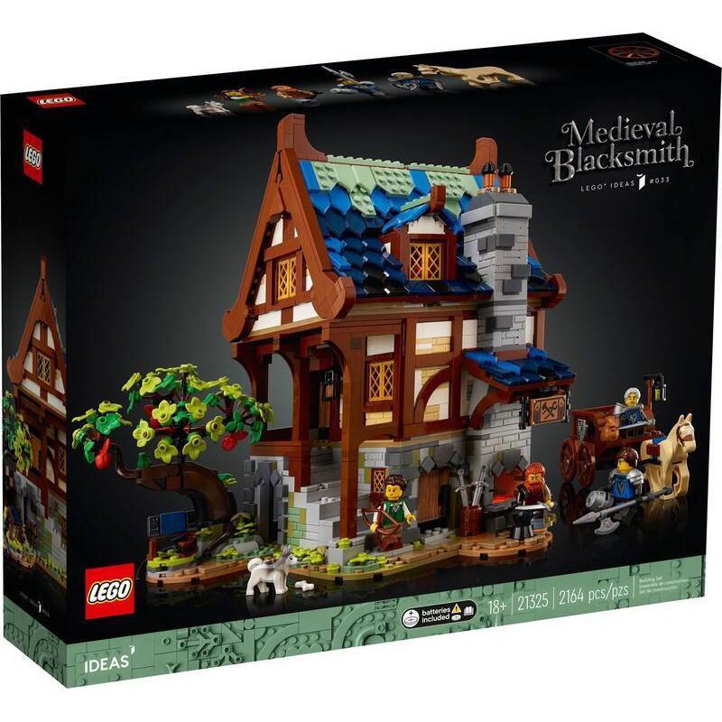 【積木2010】樂高Lego- IDEAS 全新未拆 21325 中世紀鐵匠小屋
