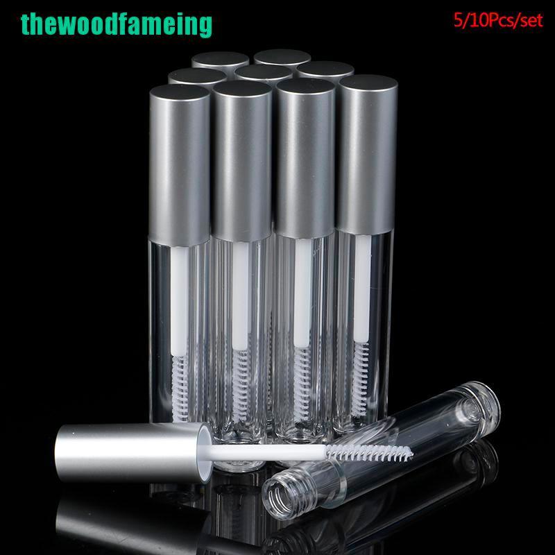 【錫】 5 / 10pcs 3.5ml 空睫毛管睫毛膏容器可再裝瓶